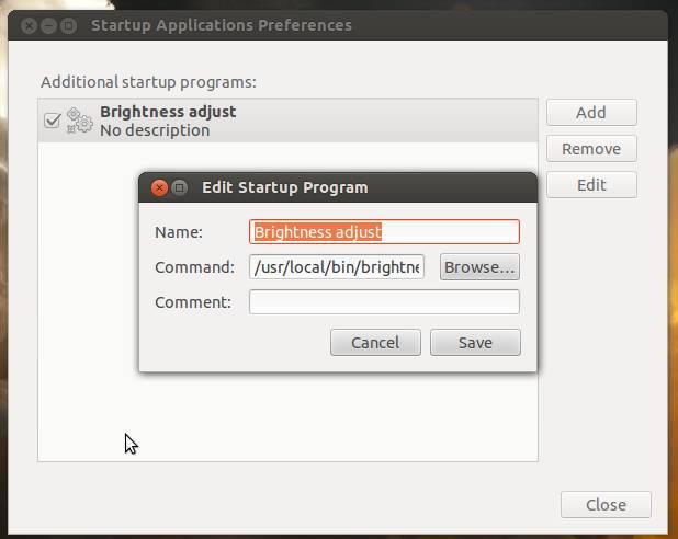Definir brilho automaticamente ao iniciar Ubuntu (5/5)